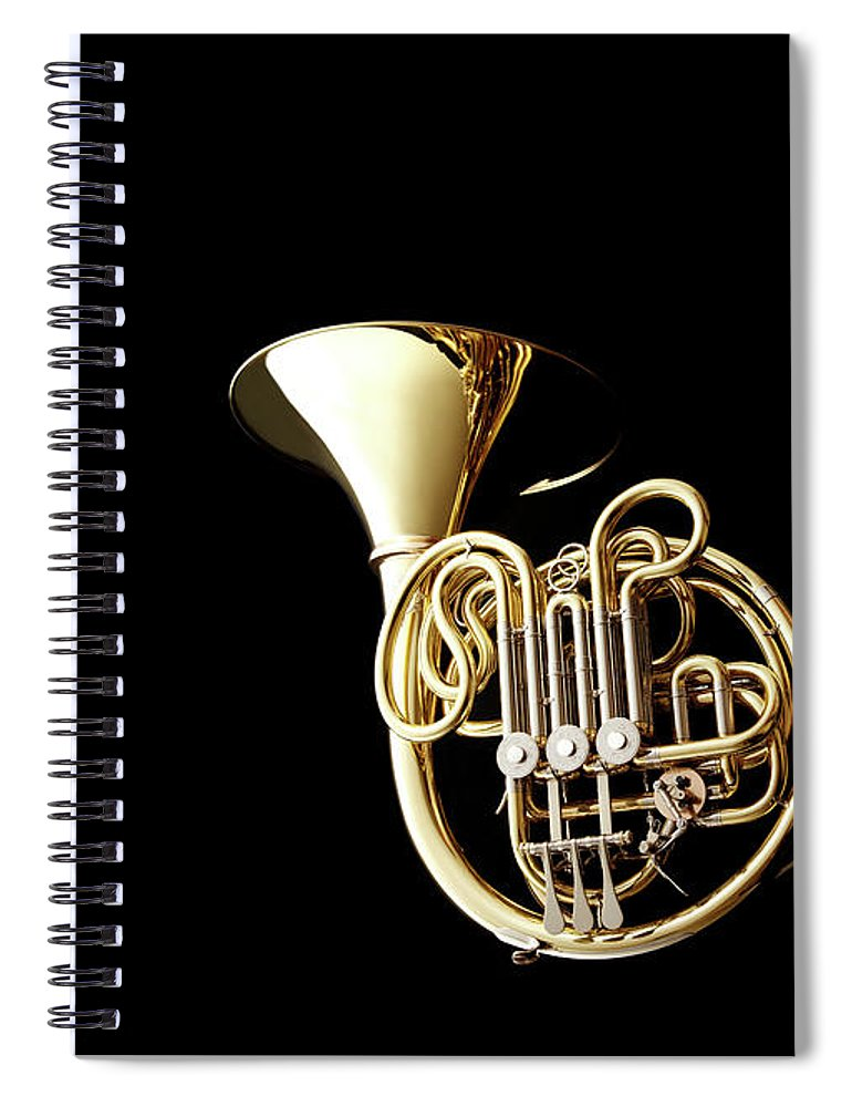 French Horn Spiral Notebook featuring the photograph Wind Instrument by Yuji Kotani