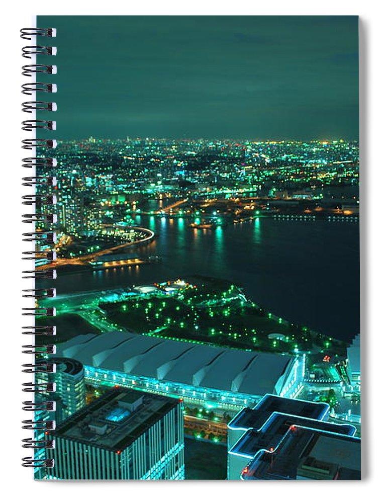 Yokohama Spiral Notebook featuring the photograph Yokohama by Copyright Artem Vorobiev