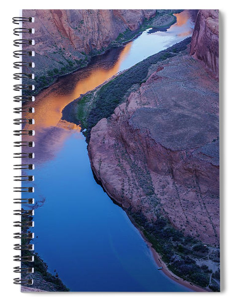 Tranquility Spiral Notebook featuring the photograph Sand Stone Rock Formation In Sw Usa by Gavriel Jecan