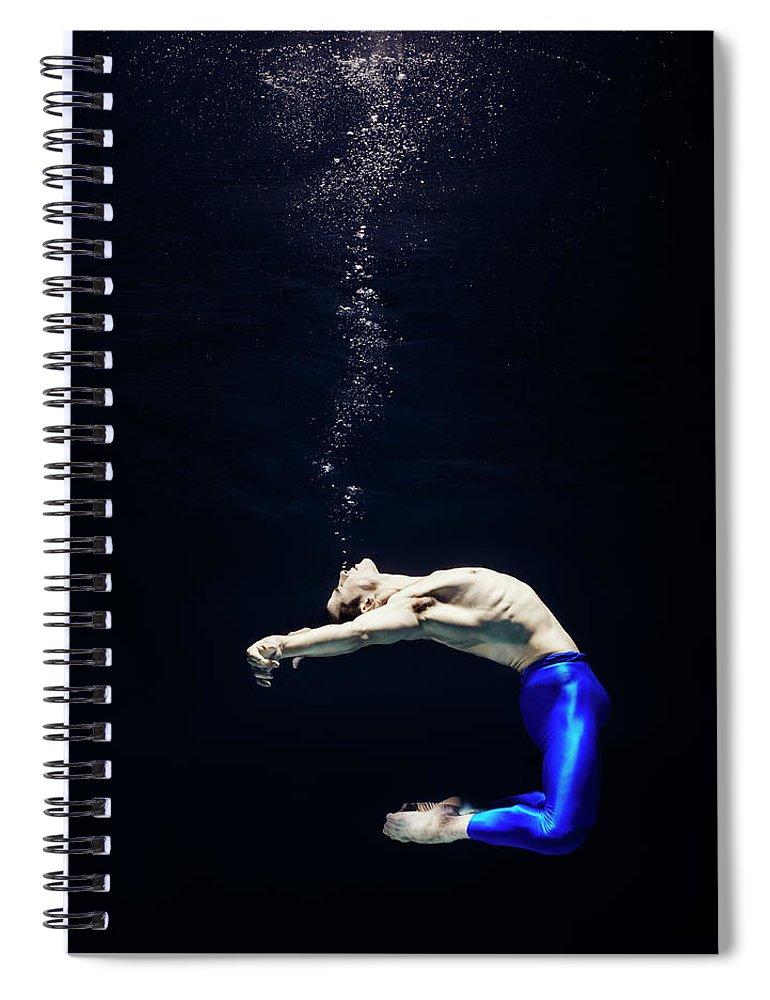 Ballet Dancer Spiral Notebook featuring the photograph Ballet Dancer Underwater by Henrik Sorensen