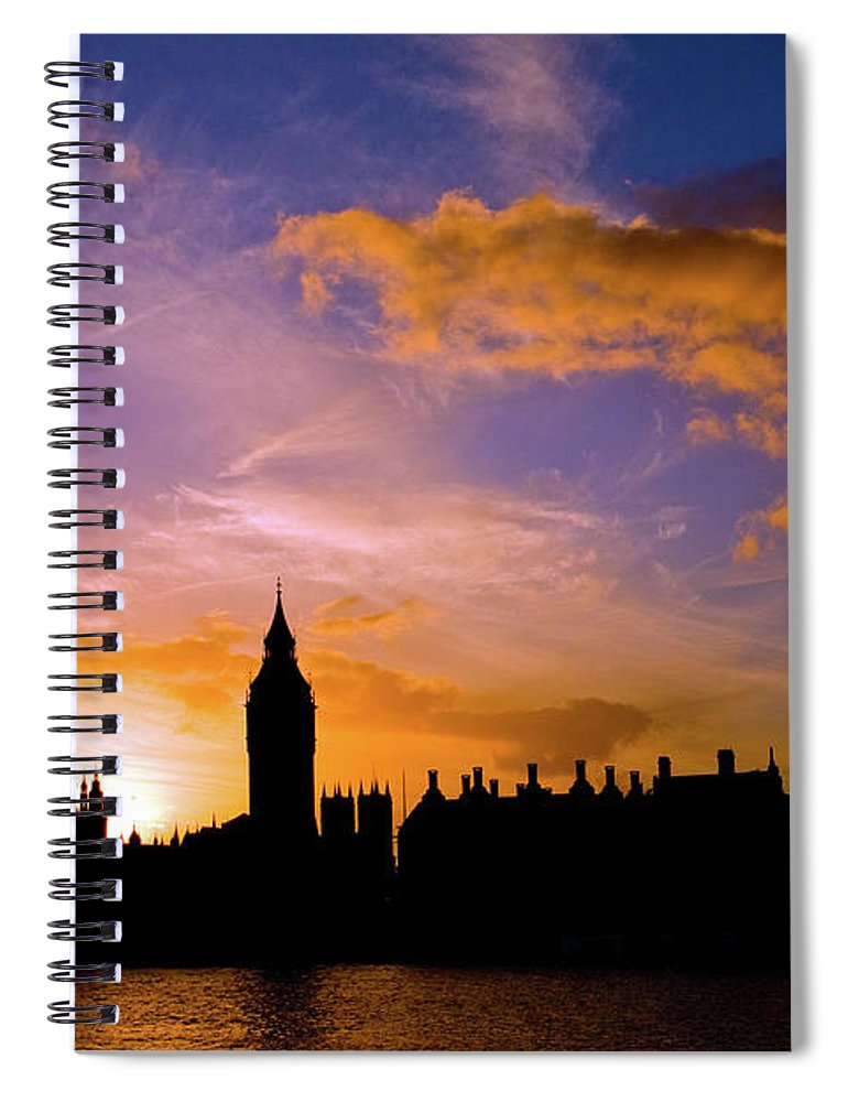 Orange Color Spiral Notebook featuring the photograph 1856 by Miguel Carminati / Argentina