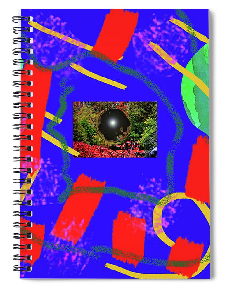 Walter Paul Bebirian Spiral Notebook featuring the digital art 2-27-2009qabc by Walter Paul Bebirian