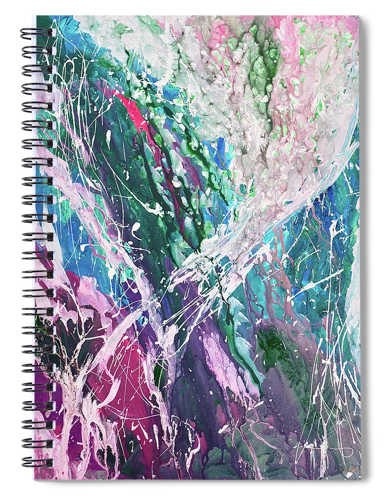 Art Spiral Notebook featuring the digital art Abstract Background by Balticboy