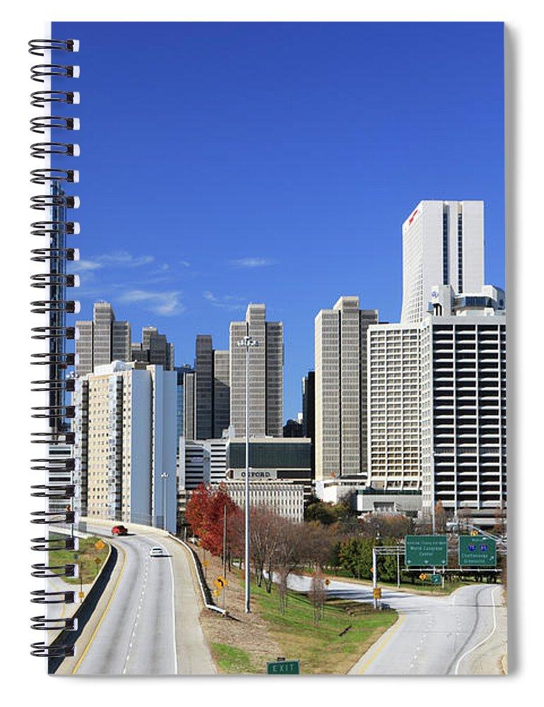 Atlanta Spiral Notebook featuring the photograph Atlanta, Georgia by Jumper