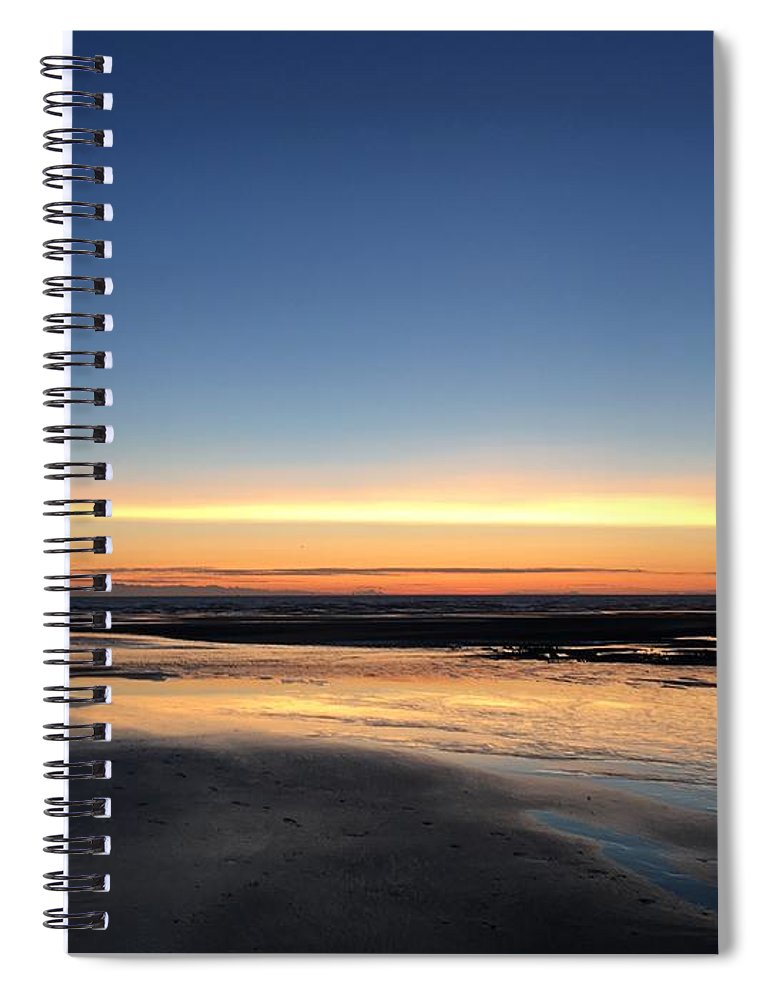 Spiral Notebook featuring the photograph Beach Sunset, Blackpool, Uk 09/2017 by Michael Kane