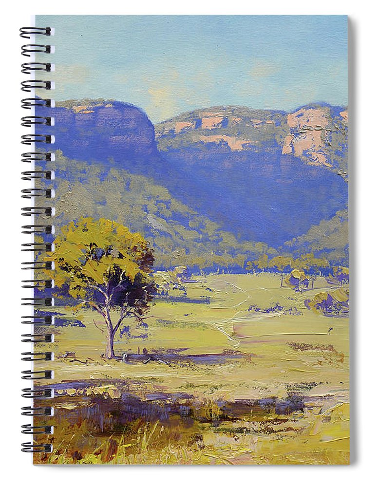 Capertee Valley Spiral Notebook featuring the painting Capertee Valley Australia by Graham Gercken