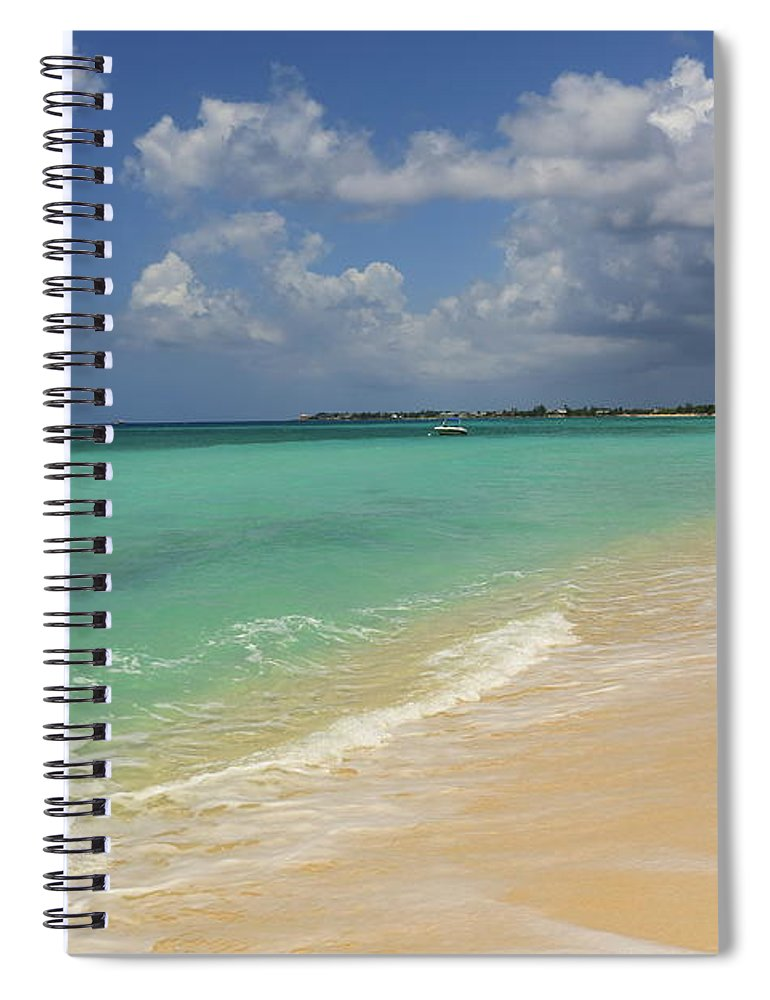 Scenics Spiral Notebook featuring the photograph Caribbean Dream Beach by Shunyufan