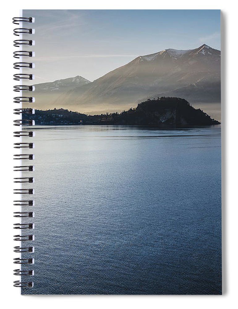 Scenics Spiral Notebook featuring the photograph Como District Lake by Deimagine
