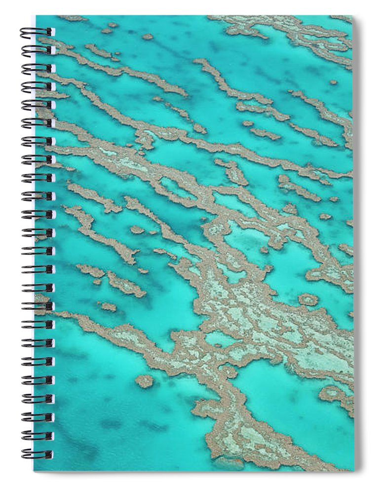Tranquility Spiral Notebook featuring the photograph Great Barrier Reef, Queensland by Peter Adams
