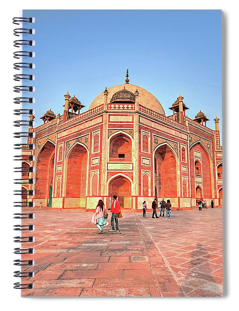 Arch Spiral Notebook featuring the photograph Humayuns Tomb, New Delhi by Mukul Banerjee Photography