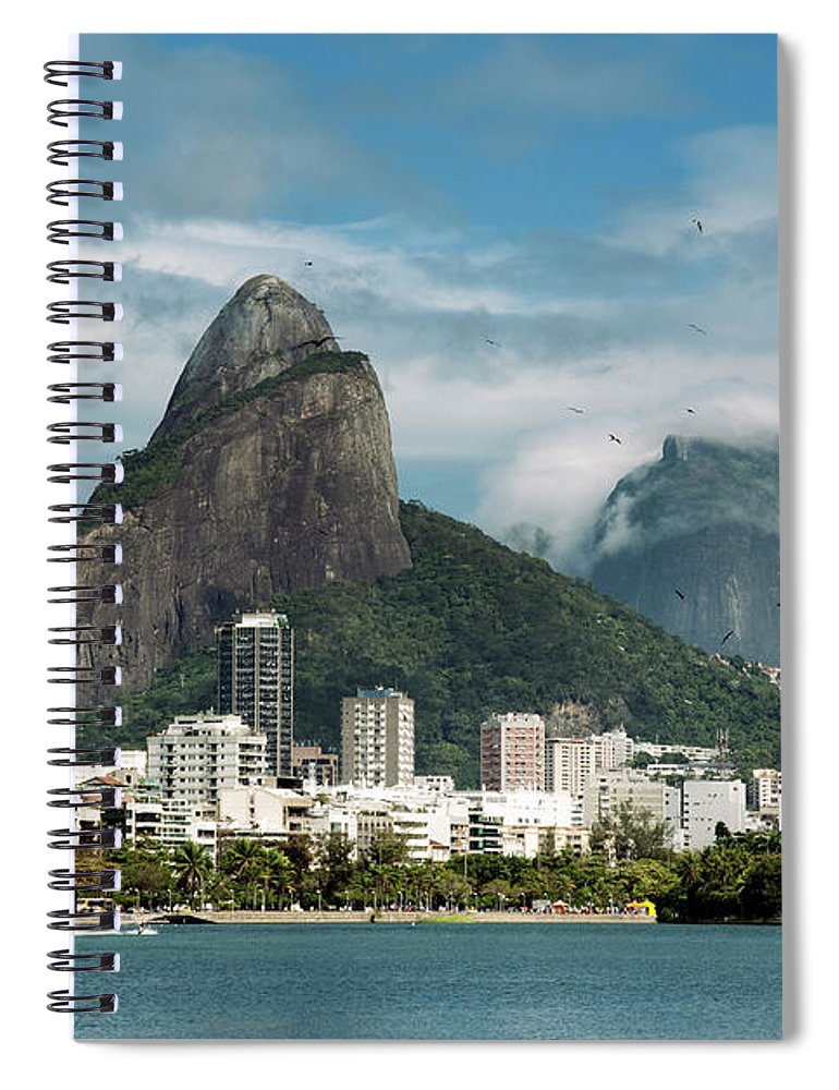 Majestic Spiral Notebook featuring the photograph Lagoa Rodrigo De Freitas by Daniel Santacatalina