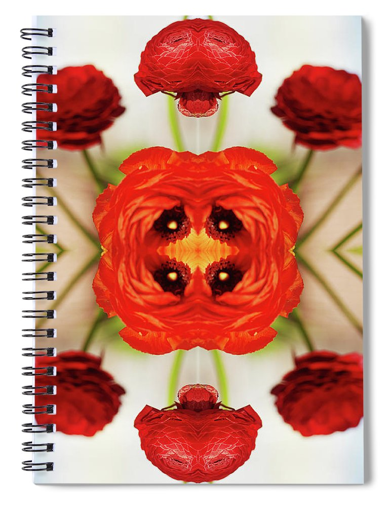 Tranquility Spiral Notebook featuring the photograph Ranunculus Flower by Silvia Otte