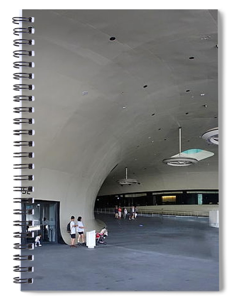 Taiwan Spiral Notebook featuring the photograph The New Art Center In Taiwan by Yali Shi