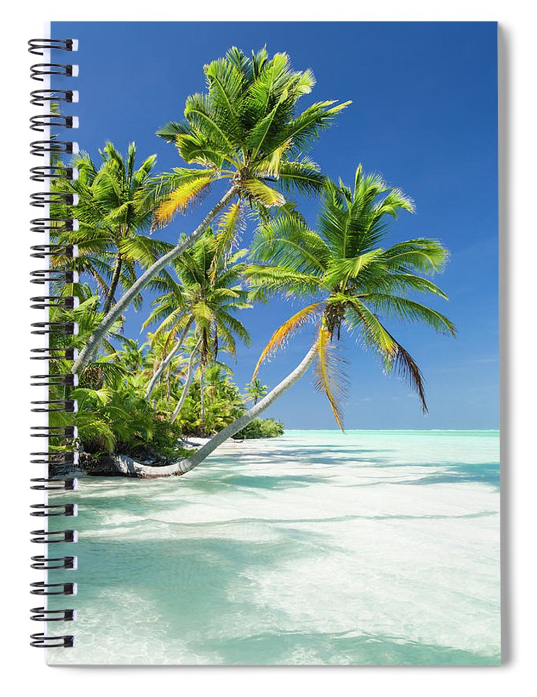 Scenics Spiral Notebook featuring the photograph Tropical Beach Of An Atoll Lagoon And by Pete Atkinson