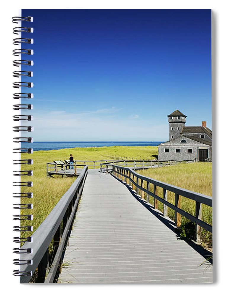 Outdoors Spiral Notebook featuring the photograph Usa, Massachusetts, Cape Cod by Walter Bibikow