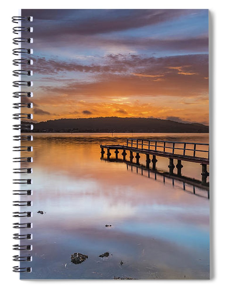 Australia Spiral Notebook featuring the photograph Early Morning Clouds And Reflections On The Bay by Merrillie Redden