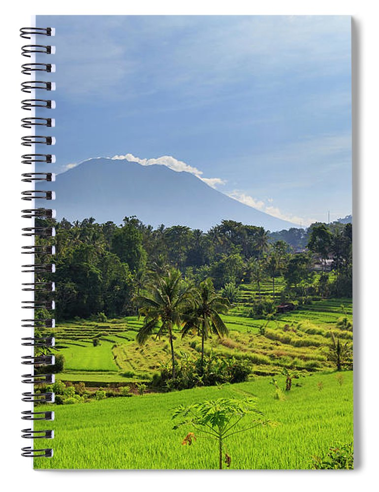 Scenics Spiral Notebook featuring the photograph Indonesia, Bali, Rice Fields And by Michele Falzone