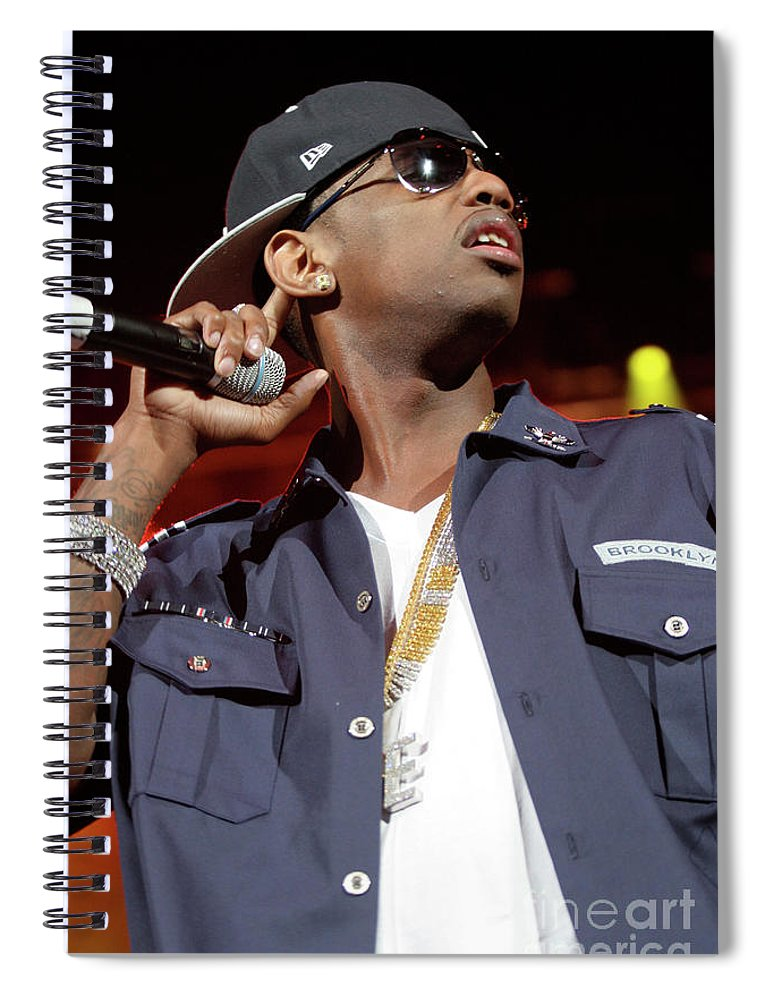 Rapper Spiral Notebook featuring the photograph Fabulous by Concert Photos