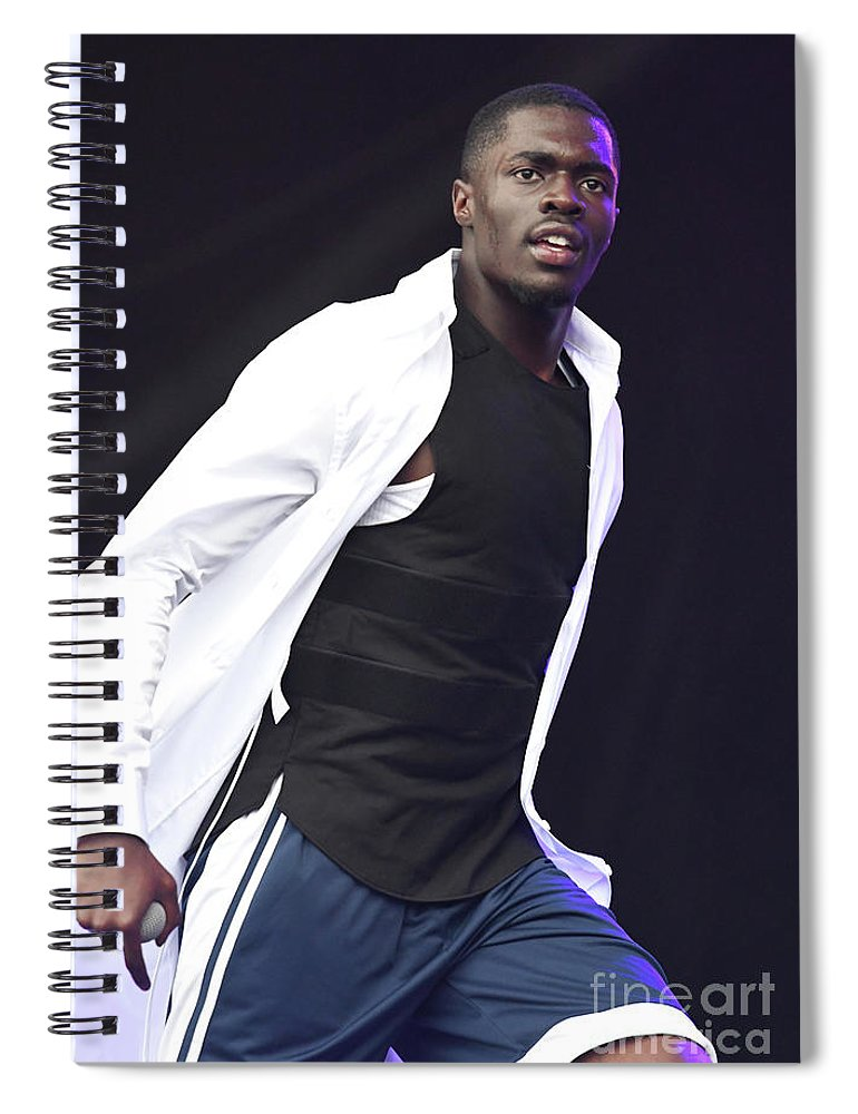 Rapper Spiral Notebook featuring the photograph Sheck Wes by Concert Photos