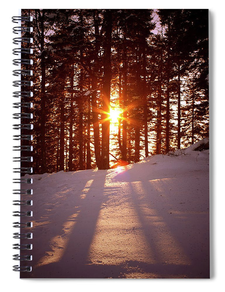 Scenics Spiral Notebook featuring the photograph Winter Sunset by Borchee