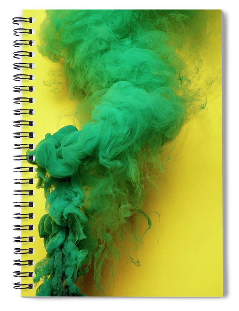 Motion Spiral Notebook featuring the photograph Colored Smoke by Henrik Sorensen