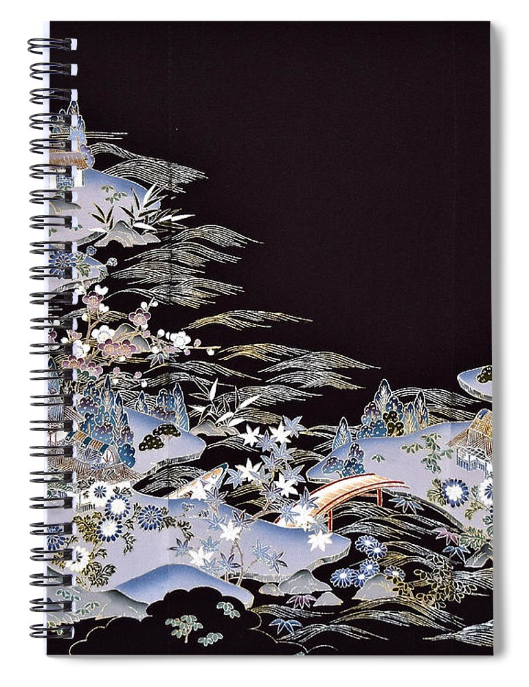 Spiral Notebook featuring the digital art Spirit of Japan T53 by Miho Kanamori
