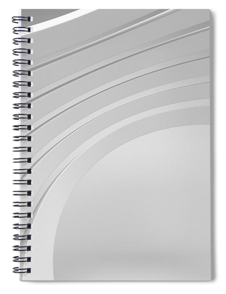 Arch Spiral Notebook featuring the photograph 3d Abstract Architecture Background by Me4o