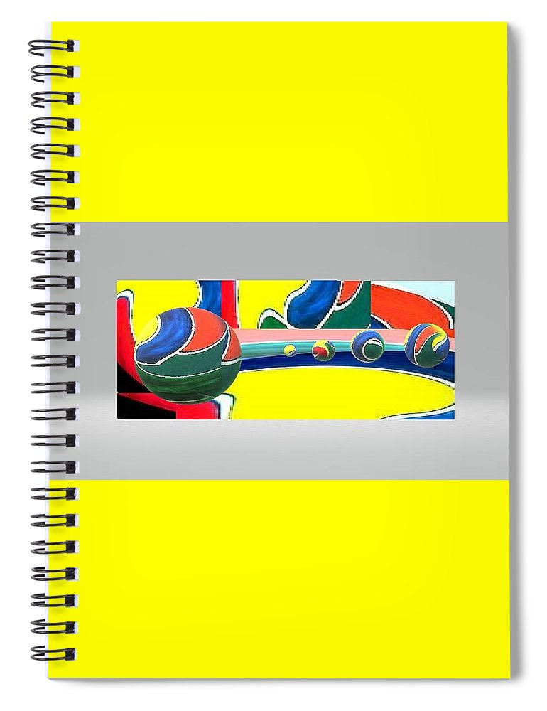 Spiral Notebook featuring the digital art 3Dindept by Andrew Johnson