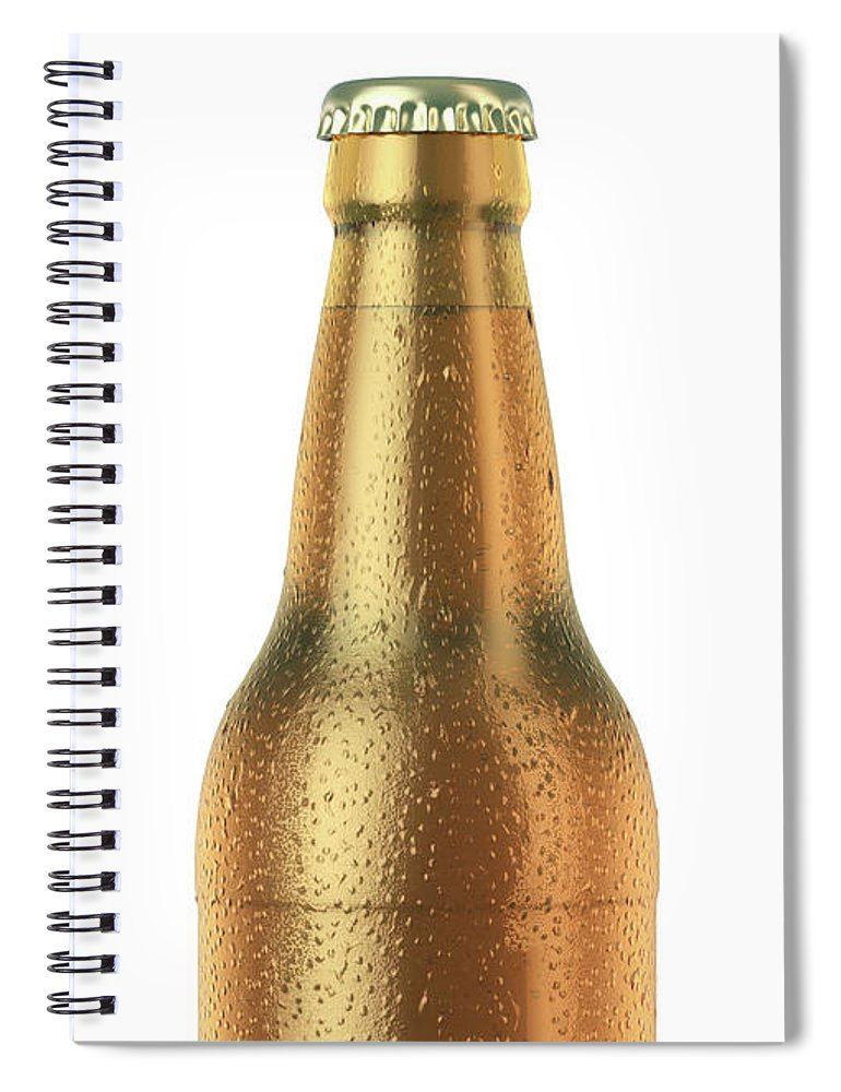 Beer Spiral Notebook featuring the digital art Alcohol Bottled Product With Condensation 4 by Allan Swart