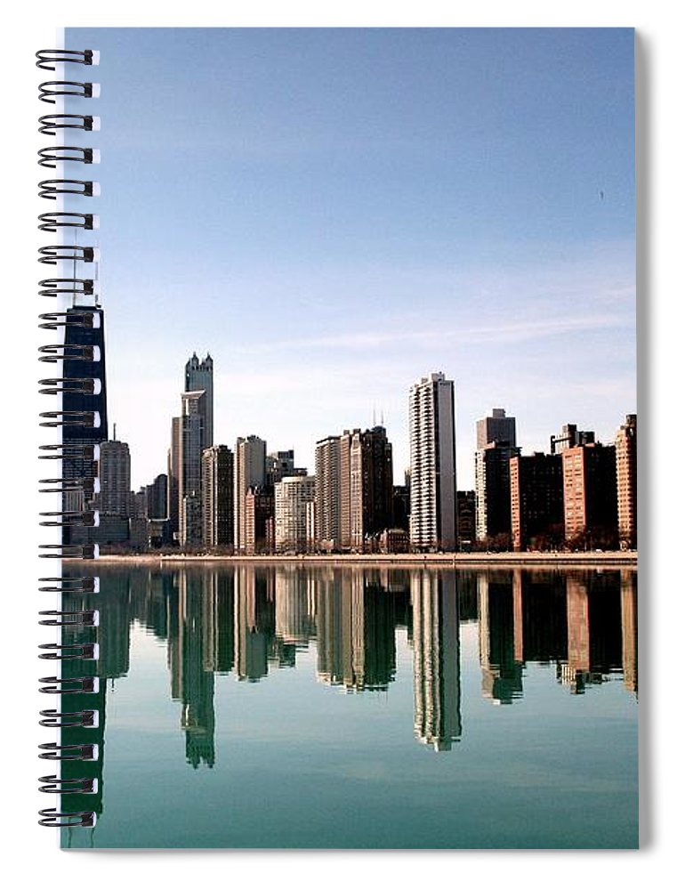 Lake Michigan Spiral Notebook featuring the photograph Chicago Skyline by J.castro