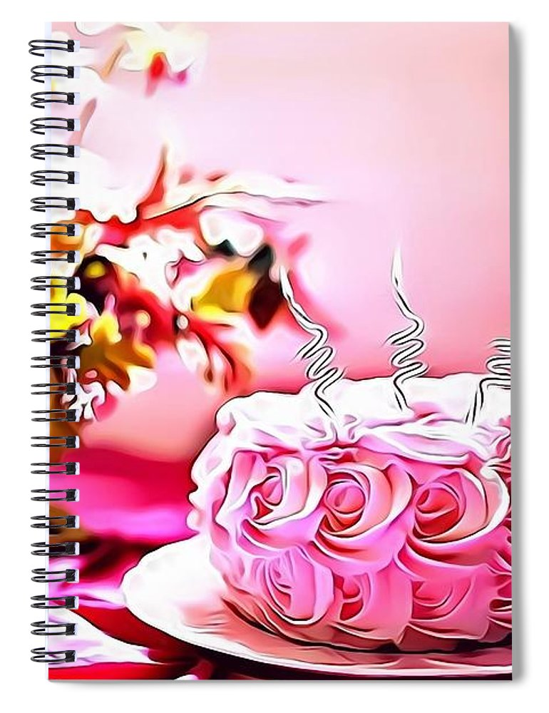 Urban Spiral Notebook featuring the digital art 4 Eat Me Now by Leo Rodriguez
