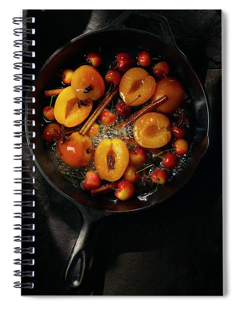 Cherry Spiral Notebook featuring the photograph Food by Brian Macdonald