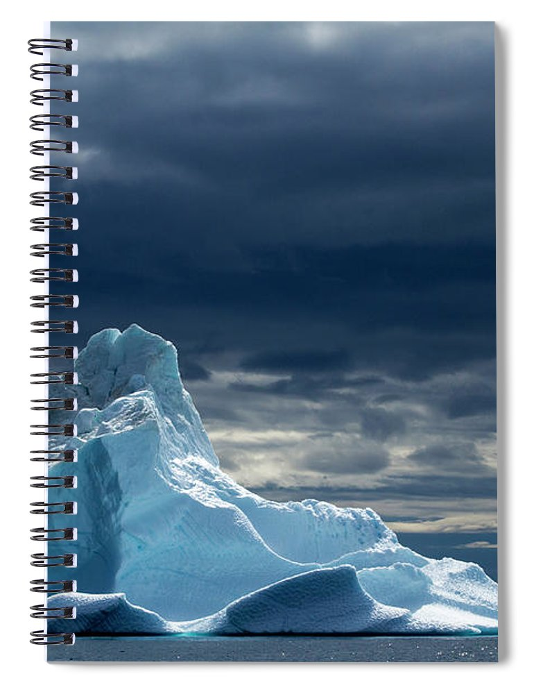Tranquility Spiral Notebook featuring the photograph Icebergs, Disko Bay, Greenland by Paul Souders