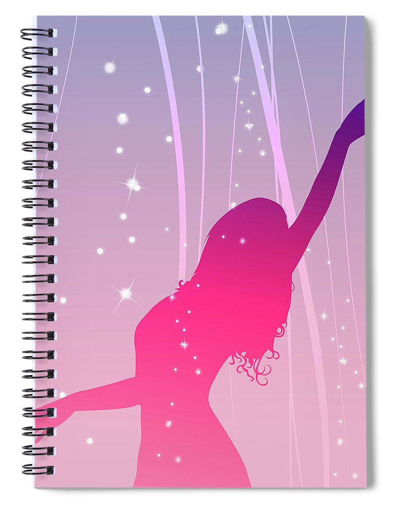 Working Spiral Notebook featuring the digital art Moulding Art by Best View Stock