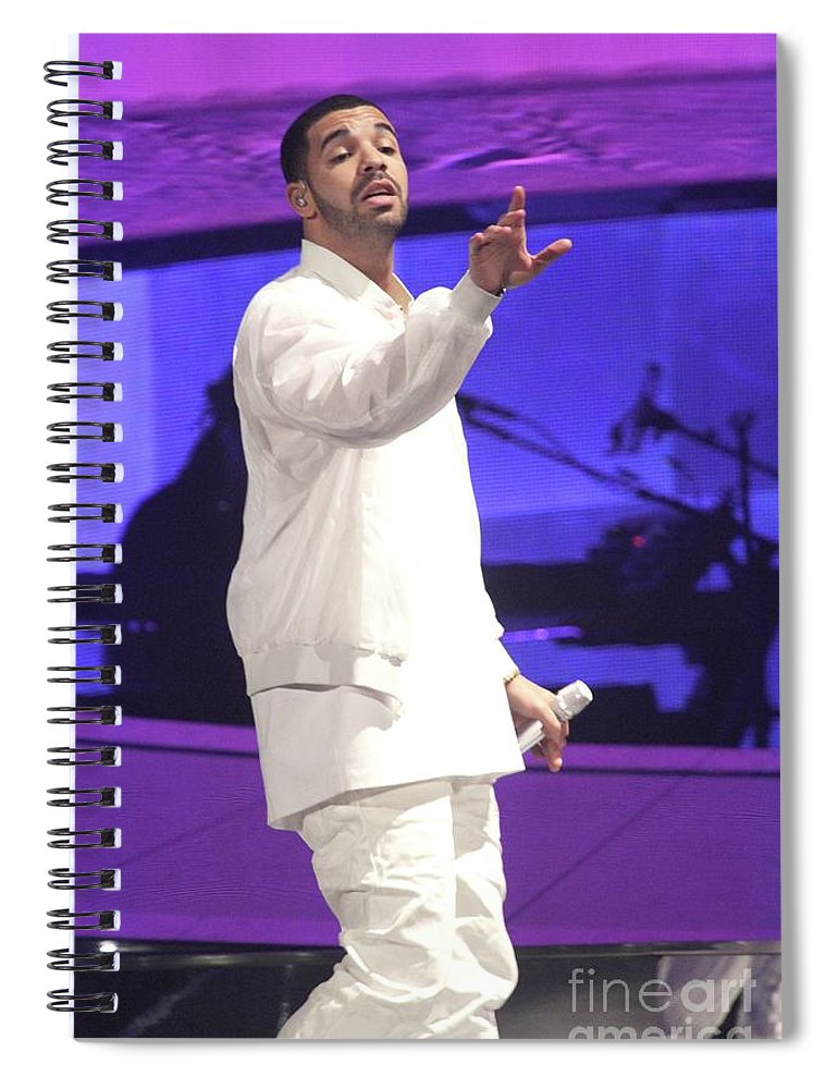 Drake Spiral Notebook featuring the photograph Drake by Concert Photos