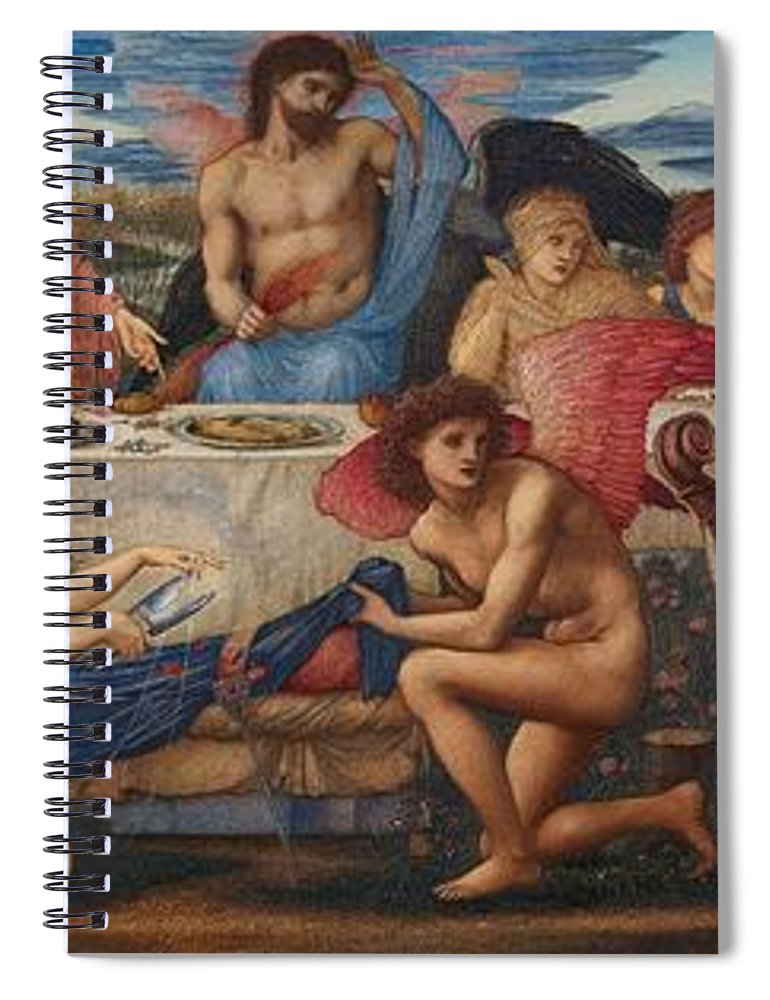 The Feast Of Peleus Spiral Notebook featuring the painting The Feast Of Peleus by Edward Burne-Jones