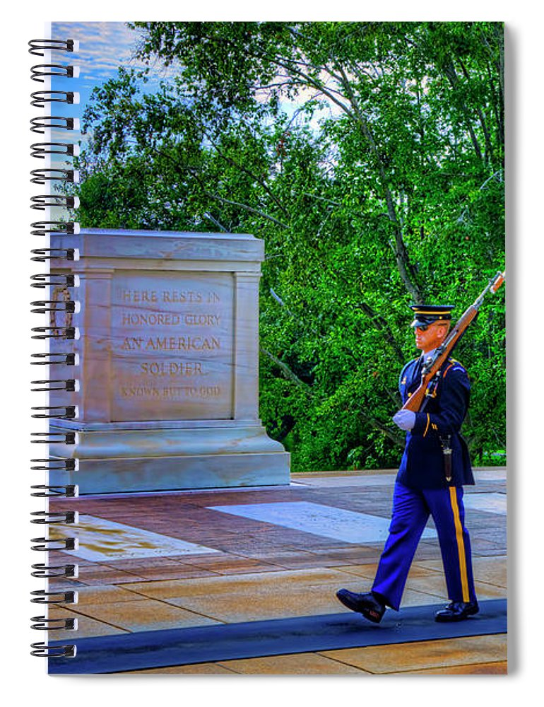 Craig Fildes Photography Spiral Notebook featuring the photograph Tomb Of The Unknown Soldier by Craig Fildes