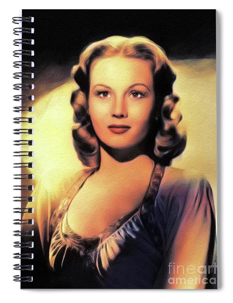 Virginia Spiral Notebook featuring the painting Virginia Mayo, Vintage Actress by Esoterica Art Agency