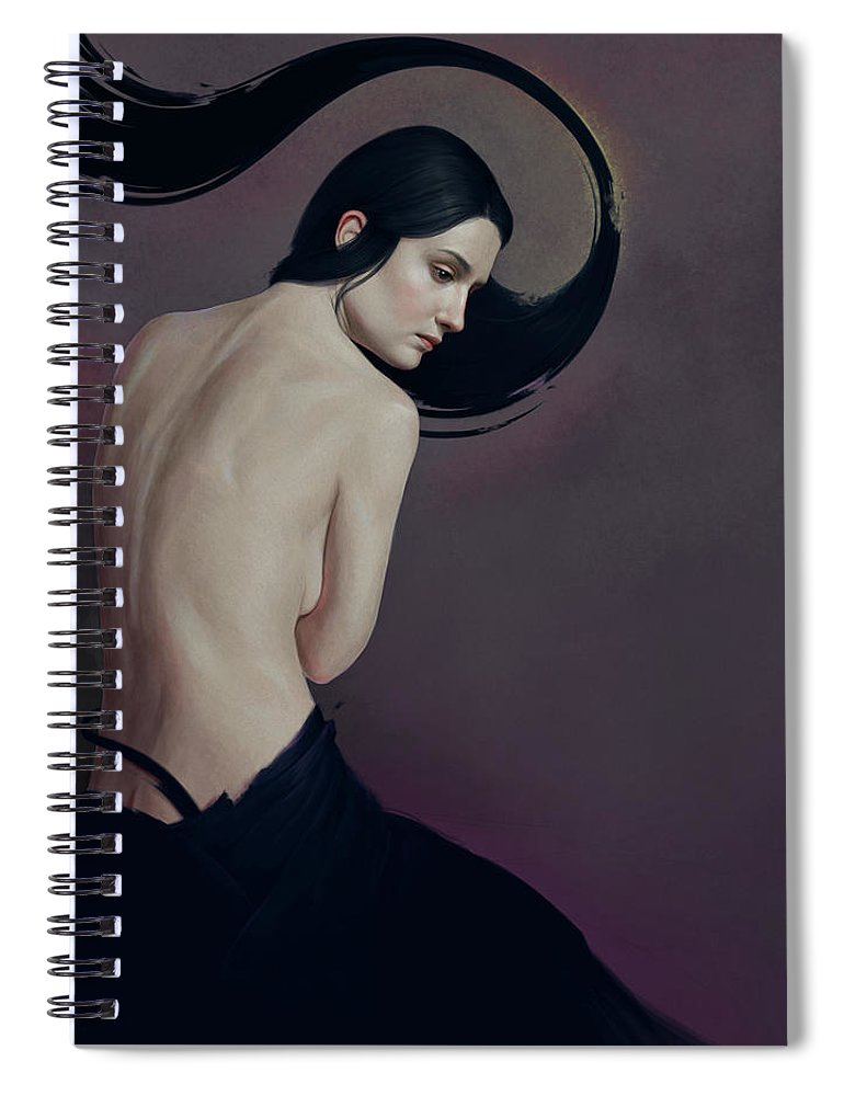 Woman Spiral Notebook featuring the painting 483 by Diego Fernandez