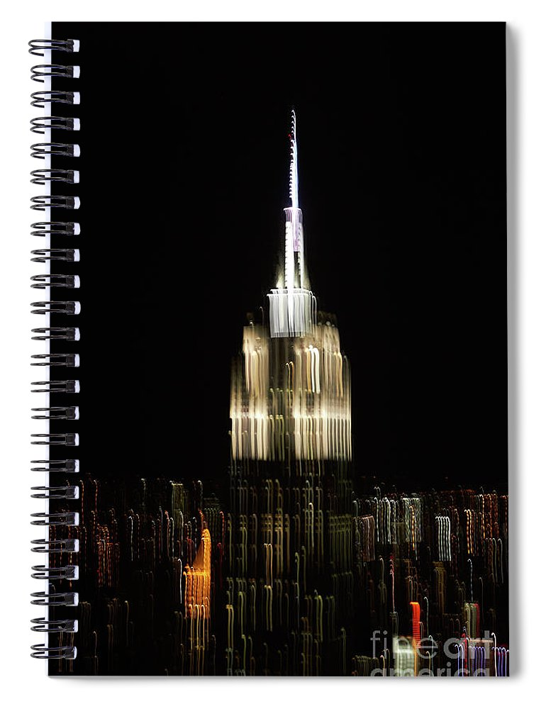 Empire State Building Spiral Notebook featuring the photograph Empire State Building by Tony Cordoza