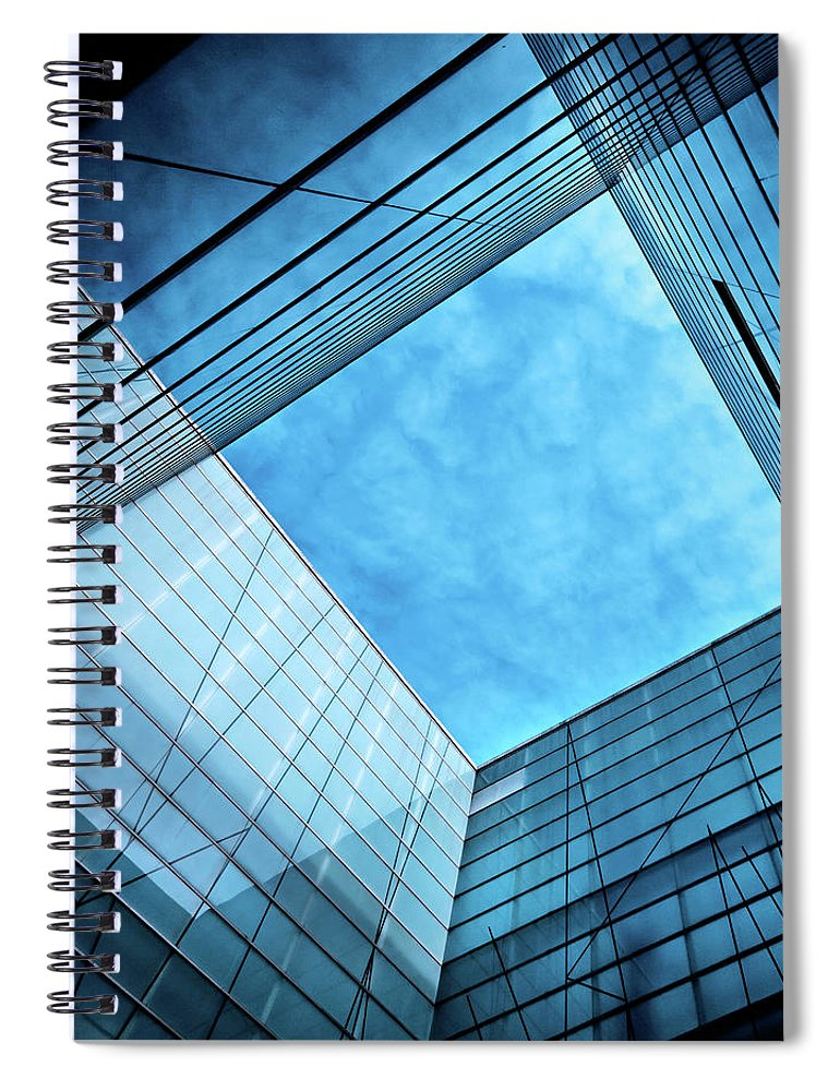 Office Spiral Notebook featuring the photograph Modern Glass Architecture by Nikada