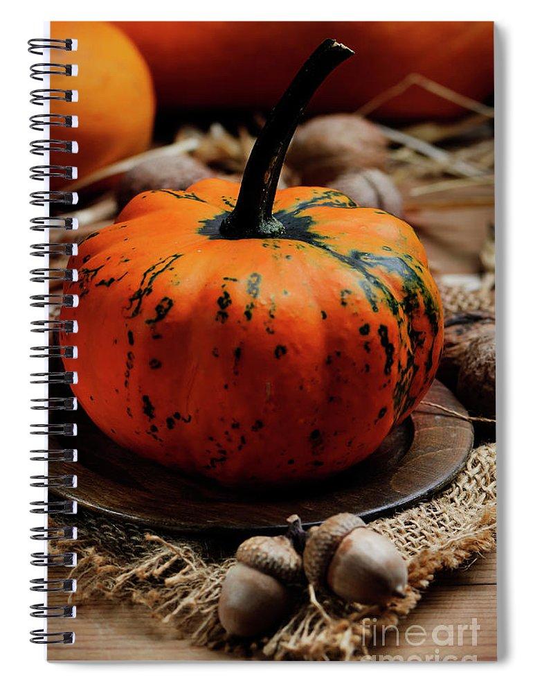 Pumpkin Spiral Notebook featuring the photograph Pumpkin by Jelena Jovanovic