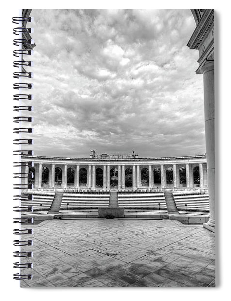 Craig Fildes Photography Spiral Notebook featuring the photograph Arlington National Cemetery Memorial Amphitheater by Craig Fildes