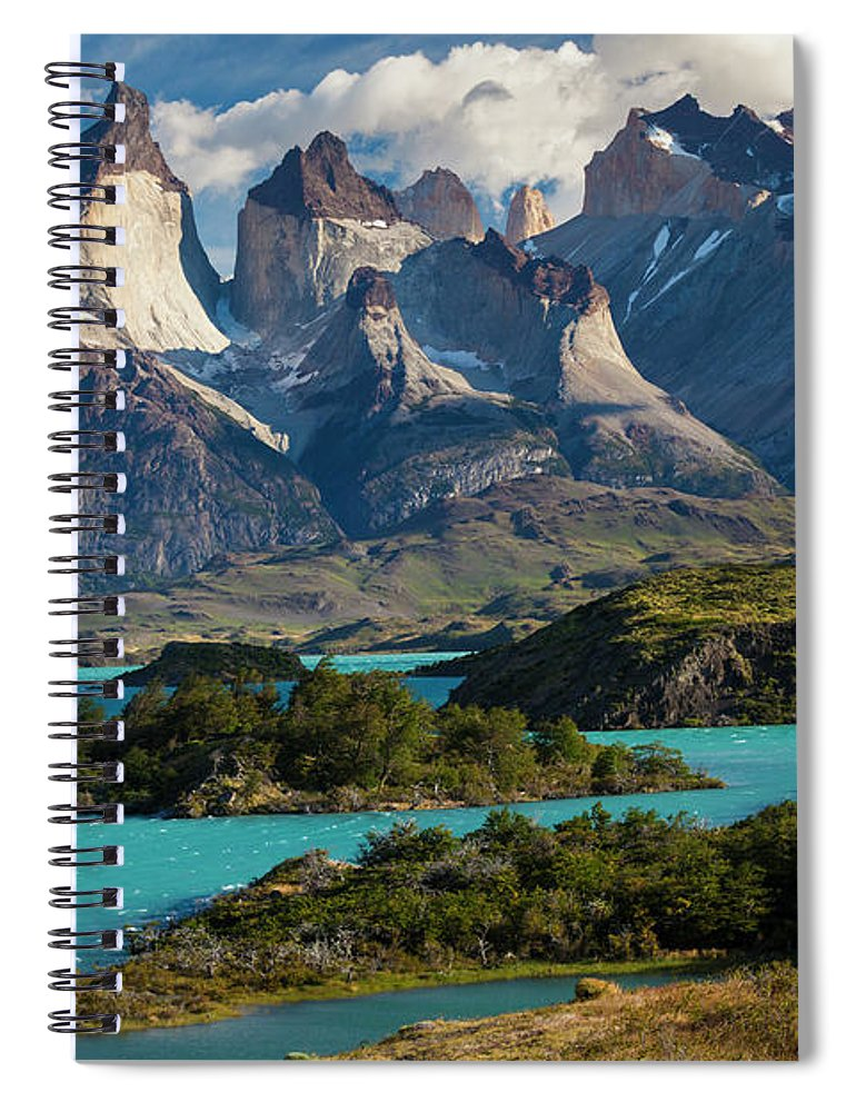 Scenics Spiral Notebook featuring the photograph Chile, Torres Del Paine National Park by Walter Bibikow