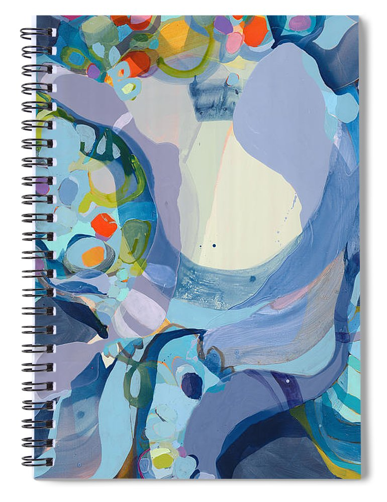 Abstract Spiral Notebook featuring the painting 70 Degrees by Claire Desjardins
