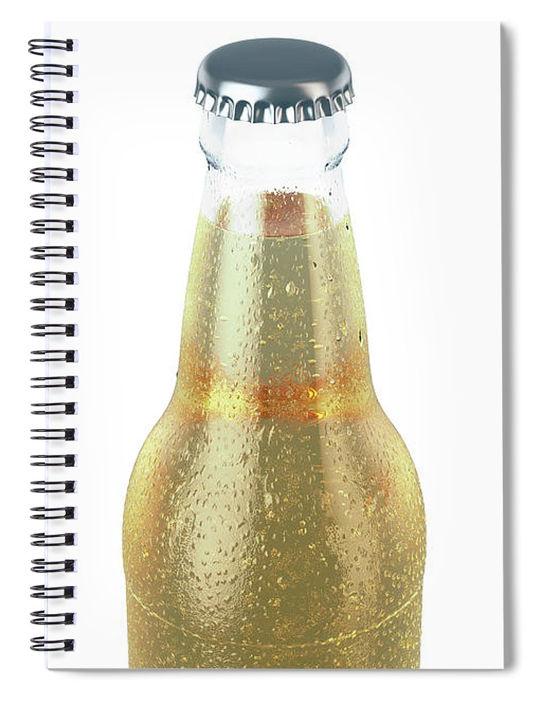Beer Spiral Notebook featuring the digital art Alcohol Bottled Product With Condensation 8 by Allan Swart