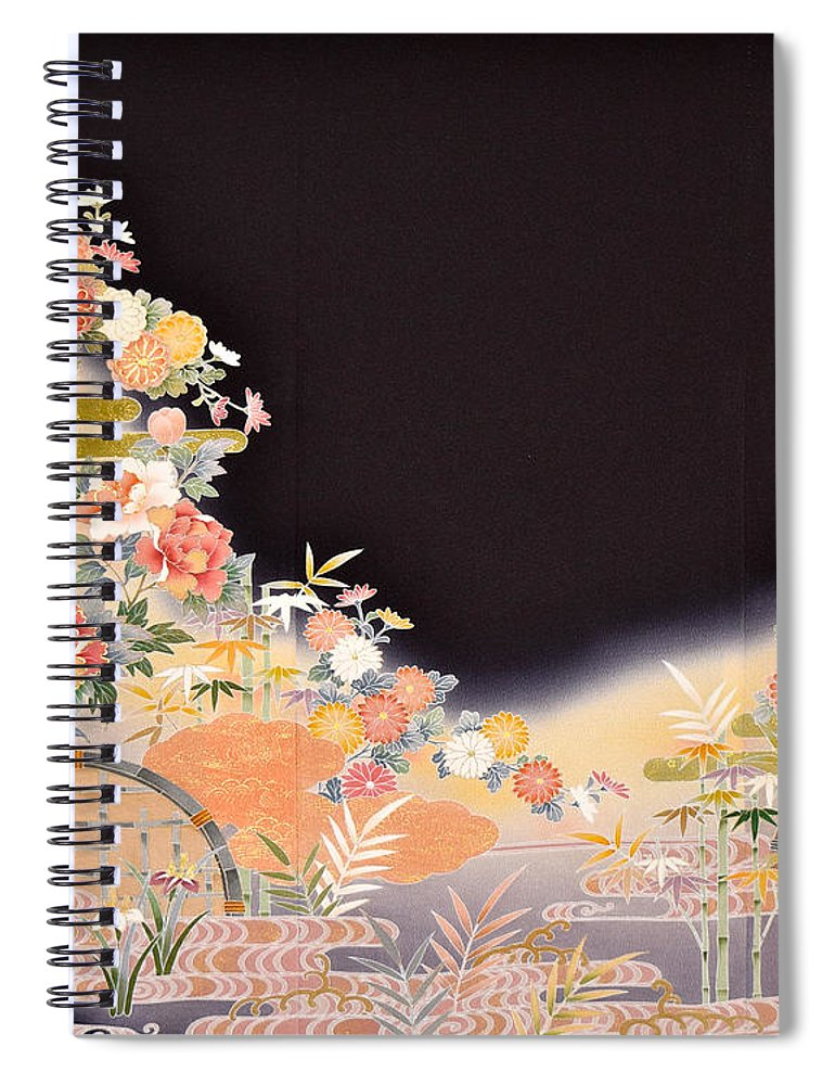 Spiral Notebook featuring the digital art Spirit of Japan T77 by Miho Kanamori