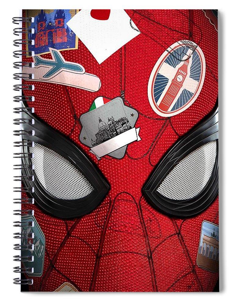 Spiral Notebook featuring the digital art Spider Man by Geek N Rock