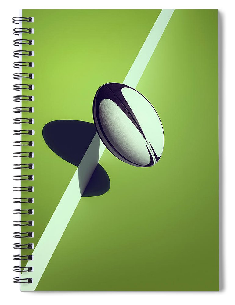 Newcraft Spiral Notebook featuring the photograph Sports Shadow by Kelvin Murray