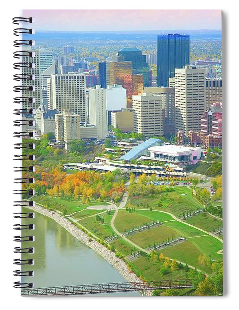 Scenics Spiral Notebook featuring the photograph A Beautiful Cityscape by Design Pics
